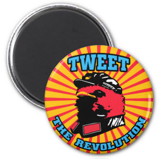 Tweet Revolution Twitter Mao Bird Magnet