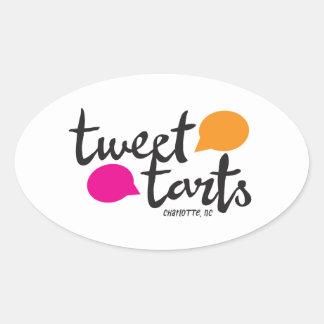 Tweet Tarts Oval Sticker