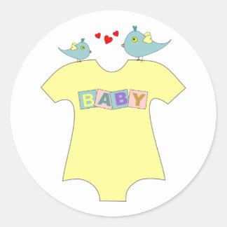 Tweet Tweet Baby Shower Stickers