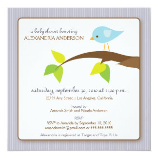 Tweet Tweet Custom Baby Shower Invitation (lilac)