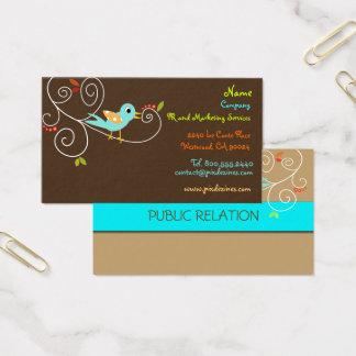 Tweet, tweet.. SEO Marketing/DIY background color Business Card