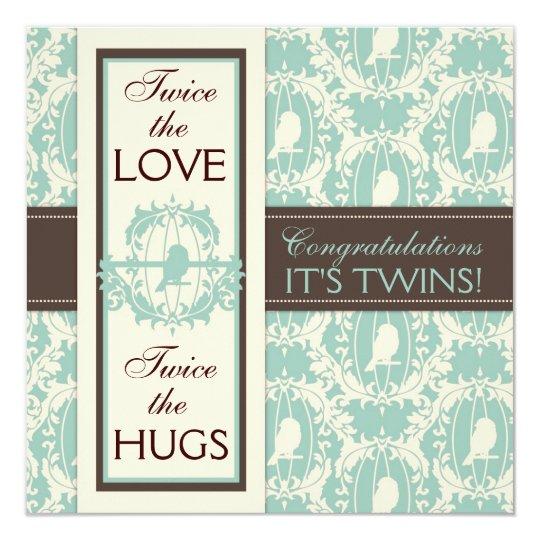 Tweet Tweet Twins Square Card