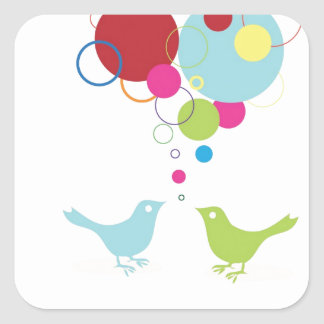 Tweet your love with these little lovebirds stickers