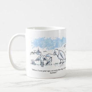 Tweeted right hand cartoon mug