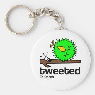 Tweeted to Death Keyring Basic Round Button Key Ring