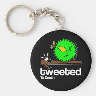 Tweeted to Death - on dark Keyring Basic Round Button Key Ring