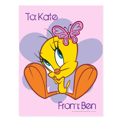Tweety and Butterfly Postcard