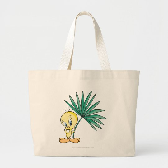 Tweety Beach Pose 1 Large Tote Bag