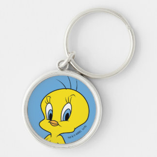 TWEETY™ |Clever Bird Silver-Colored Round Key Ring