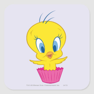 TWEETY™ Cupcake Square Sticker