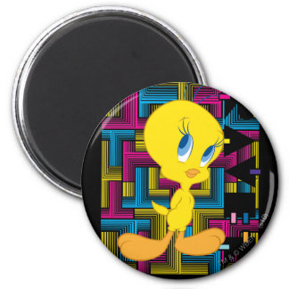 Tweety Electronic Color 6 Cm Round Magnet