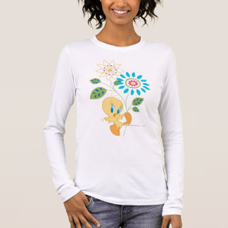Tweety Flower Fly Long Sleeve T-Shirt