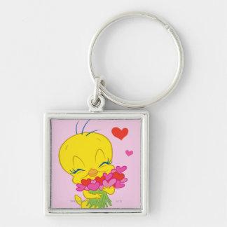 Tweety Hearts Key Ring