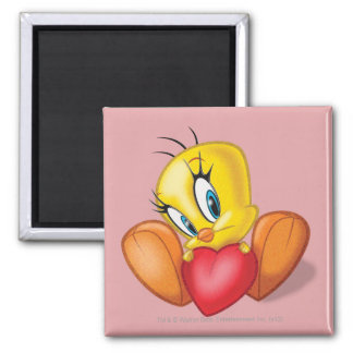 Tweety Holding Heart Magnet