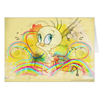 Tweety In Rainbows Card