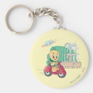Tweety Italy Basic Round Button Key Ring