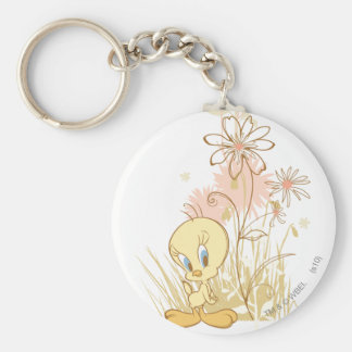 """Tweety """"Just So Perfect"""" Basic Round Button Key Ring"""