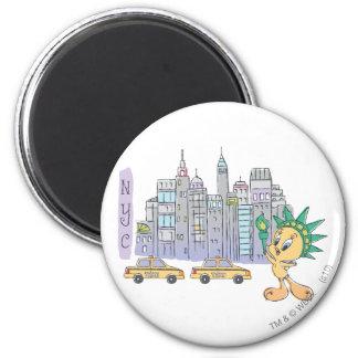 Tweety NYC 6 Cm Round Magnet