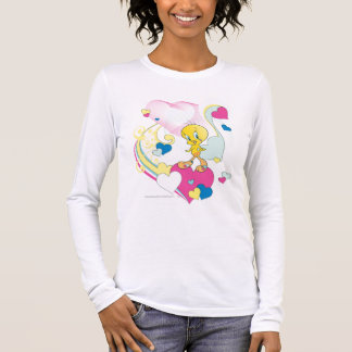 Tweety On Heart Long Sleeve T-Shirt