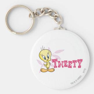 "Tweety ""Tweety"" Pink Key Ring"