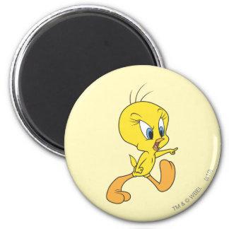 Tweety Upset 6 Cm Round Magnet