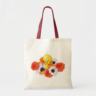 Tweety With Daisies Tote Bags