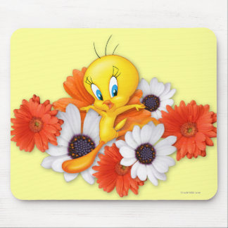 Tweety With Daisies Mouse Mat