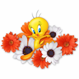 Tweety With Daisies Standing Photo Sculpture