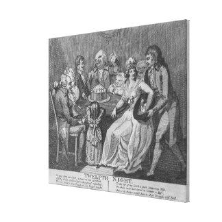 Twelfth Night, 1794 Canvas Print