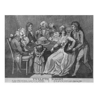 Twelfth Night, 1794 Postcard