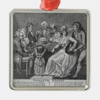 Twelfth Night, 1794 Silver-Colored Square Decoration