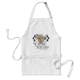 Twelfth Night Music Quote Adult Apron