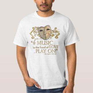 Twelfth Night Music Quote (Gold Version) Shirt
