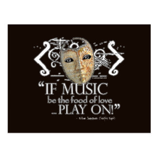Twelfth Night Music Quote Postcard