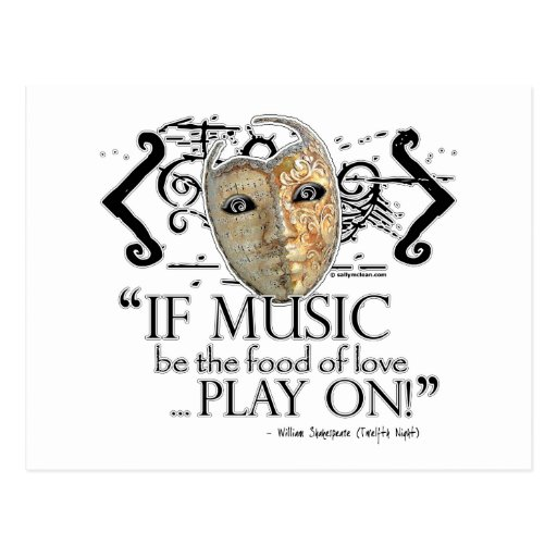 Twelfth Night Music Quote Post Cards