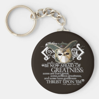 Twelfth Night Quote Basic Round Button Key Ring