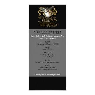 Twelfth Night Quote (Gold Version) 10 Cm X 24 Cm Invitation Card