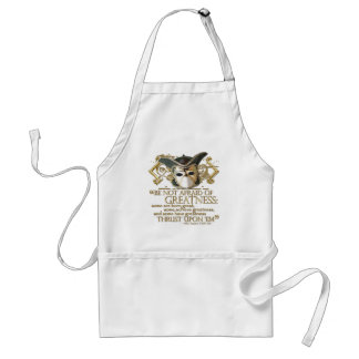 Twelfth Night Quote (Gold Version) Adult Apron