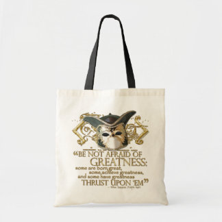 Twelfth Night Quote (Gold Version) Tote Bag