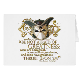 Twelfth Night Quote (Gold Version) Card