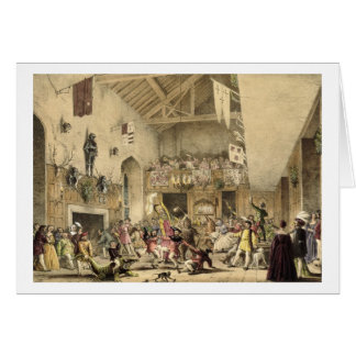 Twelfth Night Revels in the Great Hall, Haddon Hal Card