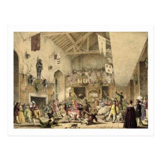 Twelfth Night Revels in the Great Hall, Haddon Hal Postcard