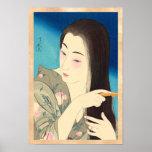 Twelve Aspects of Women, Hair Combing Kotondo Poster