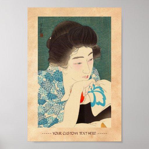 Twelve Aspects of Women, Morning Hair Torii Kotond Poster
