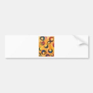 Twelve Black Crescents in the Orange Sky Bumper Sticker