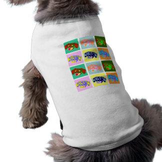 Twelve Colorful Dachshunds Pet T-shirt