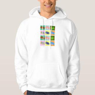 Twelve Colorful Dachshunds Sweatshirts