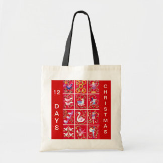 Twelve Days of Christmas Budget Tote Bag