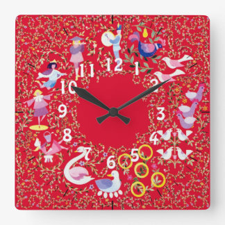 Twelve days of Christmas clock