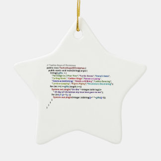 Twelve Days of Christmas in Java and Python Christmas Ornament